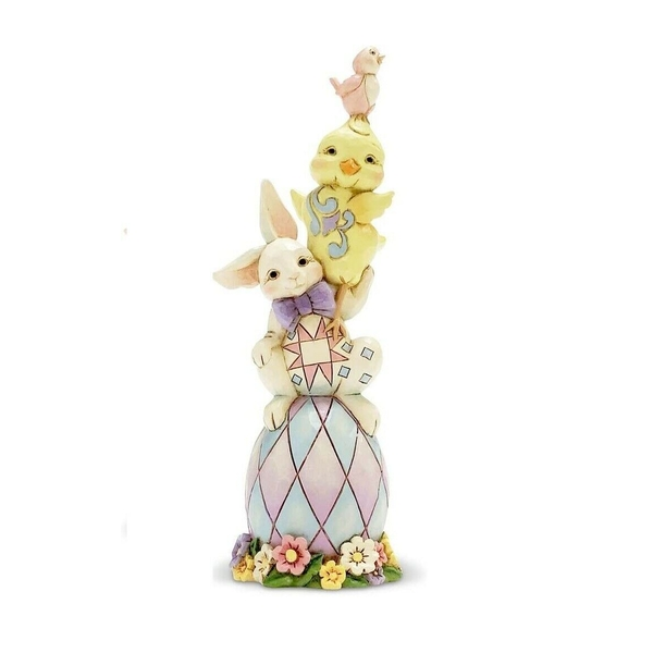 Egg stra Dose of Cute Easter Stacked Pint Sized Figurine