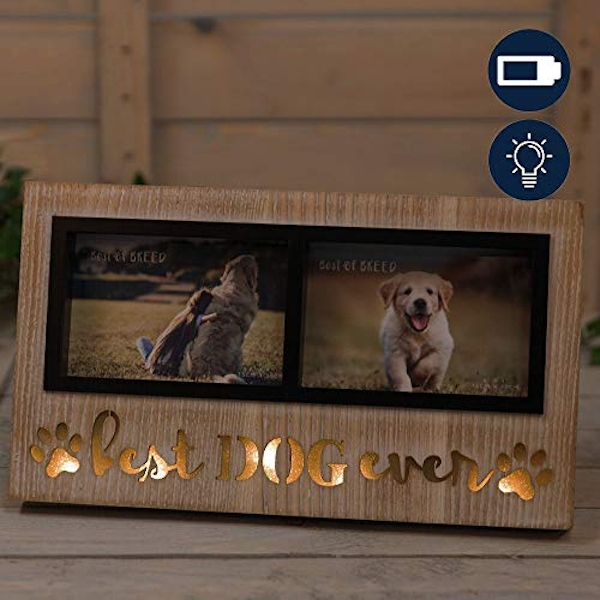 """6"""" x 4"""" - Best of Breed Double Photo Frame - Dog"""