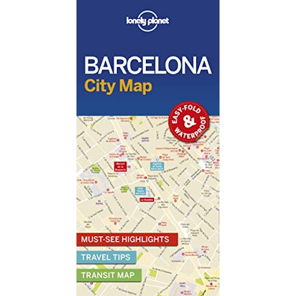 Lonely Planet Barcelona City Map  Sheet map, folded 2016