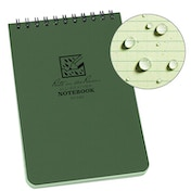 Rite In The Rain Universal Notebook, Top Spiral Bound 3 x 5 Inch - Green
