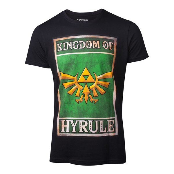 Nintendo - Propaganda Kingdom Of Hyrule Poster Men's X-Large T-Shirt - Black