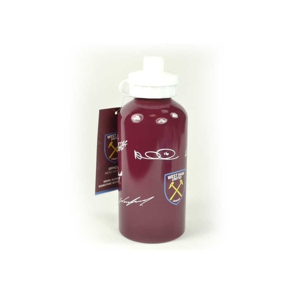 West Ham Signed 500ml Aluminium Water Bottle