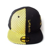 Pokemon - Block Pikachu Unisex Snapback Baseball Cap - Black/Yellow