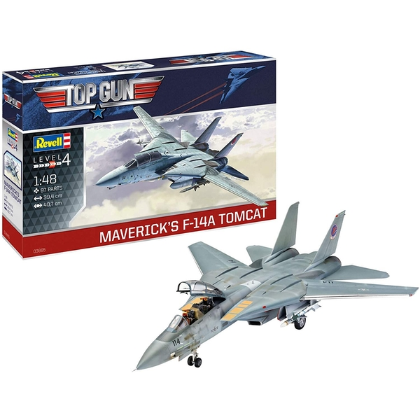 F-14A Tomcat Top Gun 1:48 Scale Level 4 Revell Model Kit