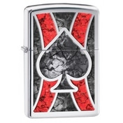 Zippo Ace High Polished Chrome Fusion Lighter