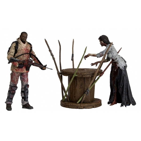 The Walking Dead TV Morgan With Impaled Walker and Spike Trap Deluxe Box