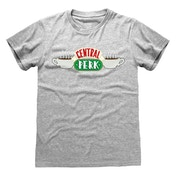 Friends - Central Perk Unisex Large T-Shirt - Grey