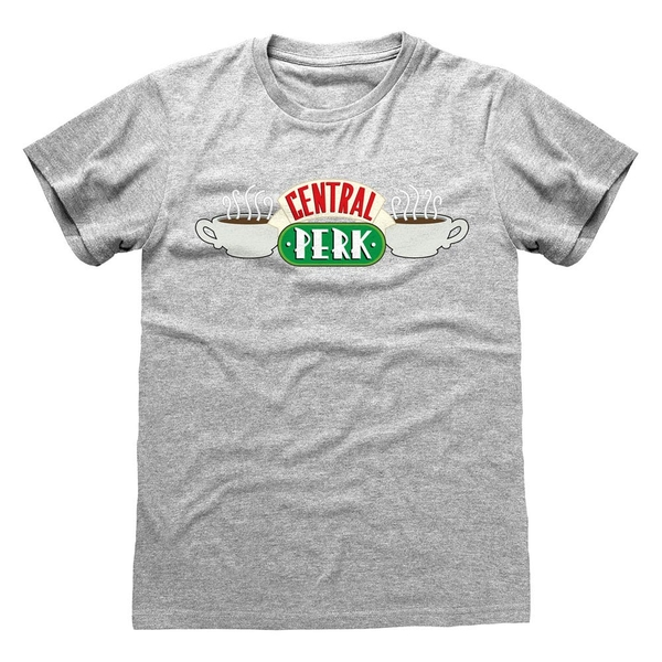 Image of Friends - Central Perk Unisex Large T-Shirt - Grey