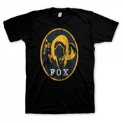 Metal Gear Solid V Ground Zeros Mens Fox Logo X-Large Black T-Shirt