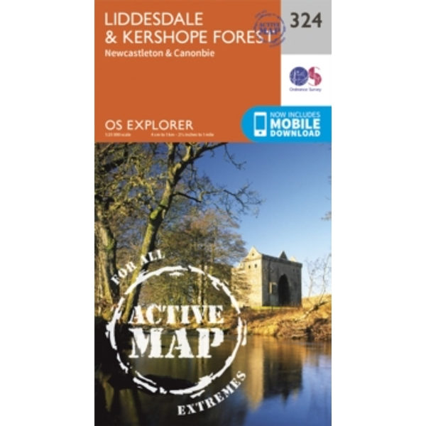 Liddesdale and Kershope Forest by Ordnance Survey (Sheet map, folded, 2015)