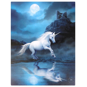 Small Moonlight Unicorn Canvas Picture by Anne Stokes