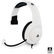 Officially Licensed 4Gamers PRO4 Chat Gaming Headset White for PS4