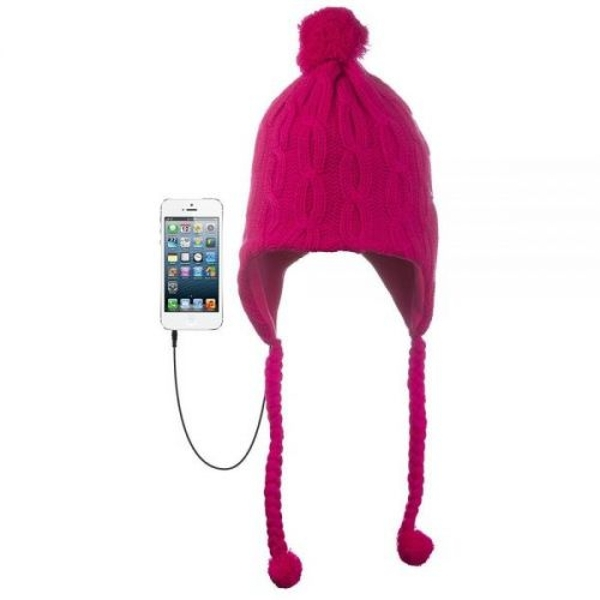 576935062d7 Hey! Stay with us... KitSound Audio Peruvian Cable Knit Beanie Hat with Pom  ...