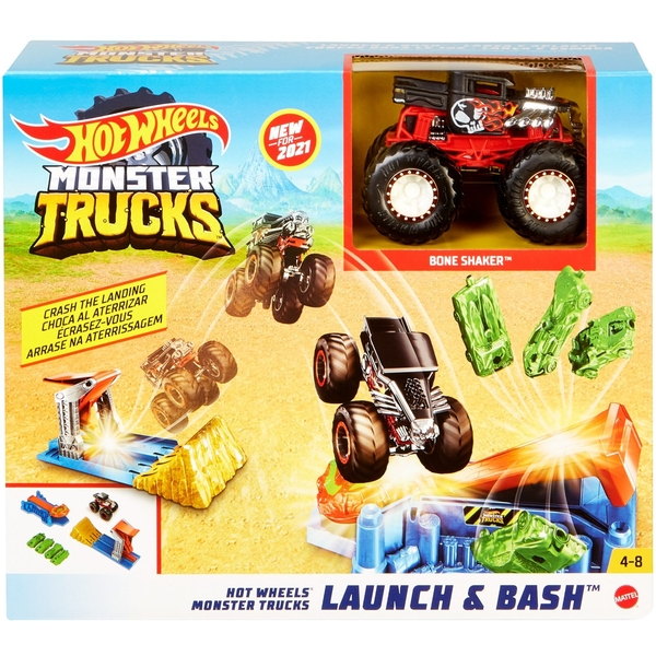 Hot Wheels Monster Truck Launch and Bash Playset
