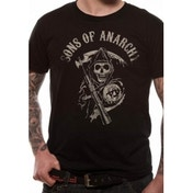 Sons Of Anarchy Main Logo T-Shirt X-Large - Black
