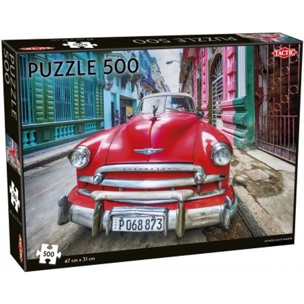 Vintage Car in Havana 500 Piece Jigsaw Puzzle