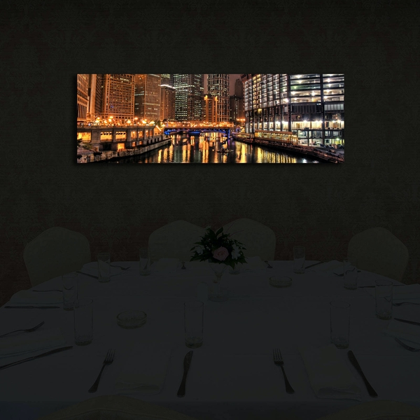 3090?ACT-49 Multicolor Decorative Led Lighted Canvas Painting