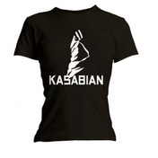 Kasabian Ultra Black Skinny Ladies Black T Shirt: Large