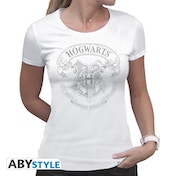 Harry Potter - Hogwarts Women's X-Large T-Shirt - White
