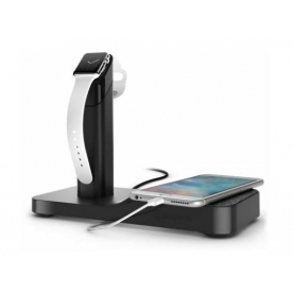 Griffin WatchStand Powered Charging Station for Apple Watch and iPhone Black UK Plug