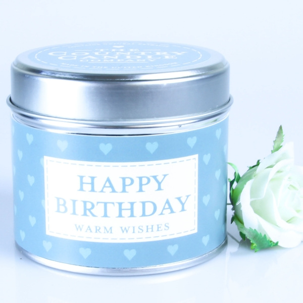 Happy Birthday (Sentiment Collection) Tin Candle