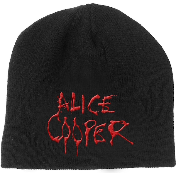 Alice Cooper - Dripping Logo Men's Beanie Hat - Black