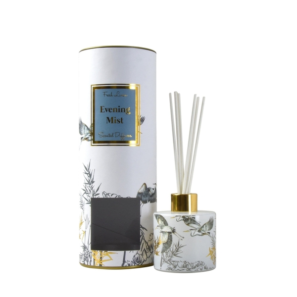 Oriental Heron Reed Diffuser in Gift Box Evening Mist Clean Cotton Scent 150ml