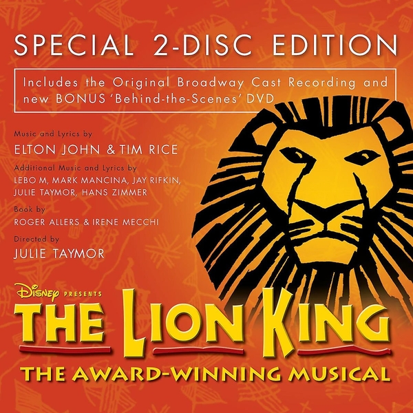 The Lion King: Original Broadway Cast Recording CD + DVD