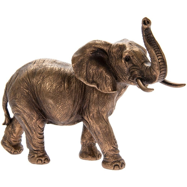 Reflections Bronzed Large Elephant Figurine By Lesser & Pavey