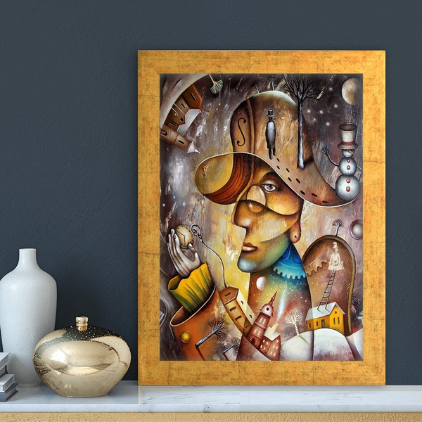 AC1028564926 Multicolor Decorative Framed MDF Painting