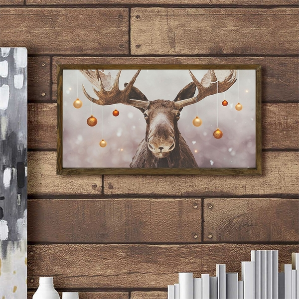 KZM695 Multicolor Decorative Framed MDF Painting
