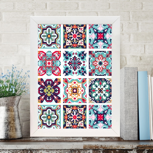 BC487627339 Multicolor Decorative Framed MDF Painting