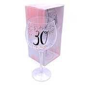 Luxe Birthday Gin Glass with Rose Gold Foil - 30