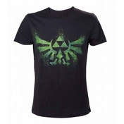 Nintendo Legend of Zelda Distress Green Royal Crest Large T-Shirt