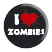 Zombie I Love Badge