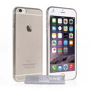 YouSave Accessories iPhone 6 / 6s Ultra Thin Gel Case - Smoke Grey