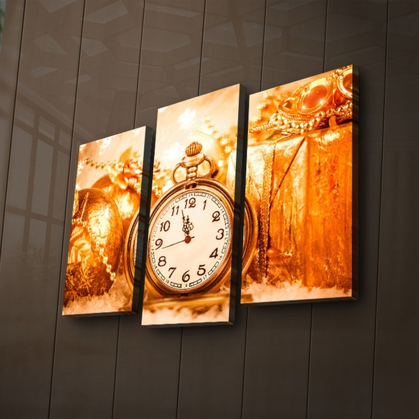 3PAT?ACT-12 Multicolor Decorative Led Lighted Canvas Painting (3 Pieces)
