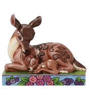 Sleep Tight Young Prince Bambi Laying Down with Mother Disney Traditions Figurine