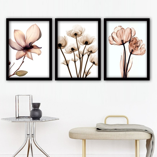 3SC157 Multicolor Decorative Framed Painting (3 Pieces)