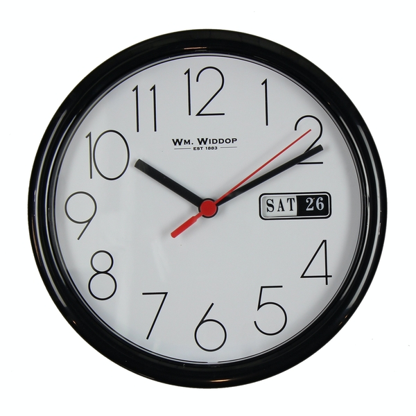 Wall Clock with Date - Black