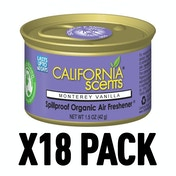 Monterey Vanilla (Pack Of 18) California Scents Spillproof Organic Canister