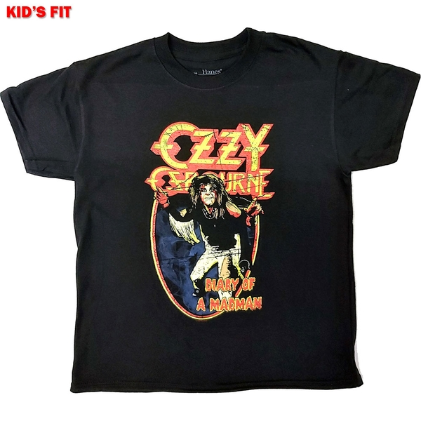 Ozzy Osbourne - Vintage Diary of a Madman Kids 9 - 10 Years T-Shirt - Black