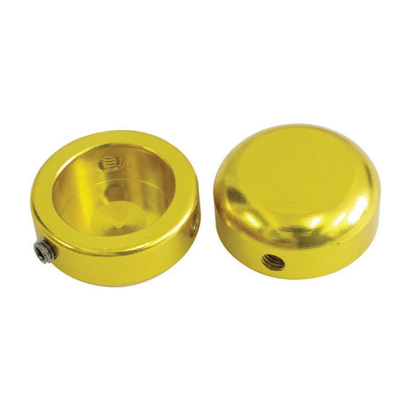 Savage Bar End Plugs Alloy 22.2mm Gold