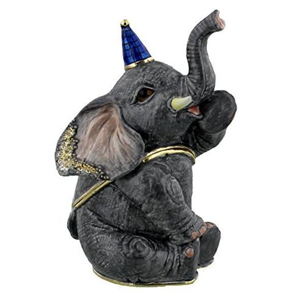 Treasured Trinkets - Sitting Elephant with Party Hat