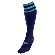 PT 3 Stripe Pro Football Socks LBoys Navy/Sky