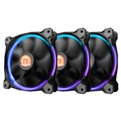 Thermaltake Riing 14 Led RGB 256 Colors 140 mm Fan with Switch Black (Pack of 3)