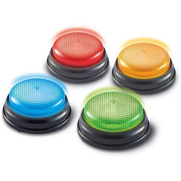 Learning Resources Lights and Sounds Buzzers (Set Of 4)