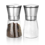 M&W Set Of 2 Salt & Pepper Grinders Small New