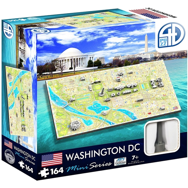 4D Cityscape Mini Time Puzzle Washington Puzzle