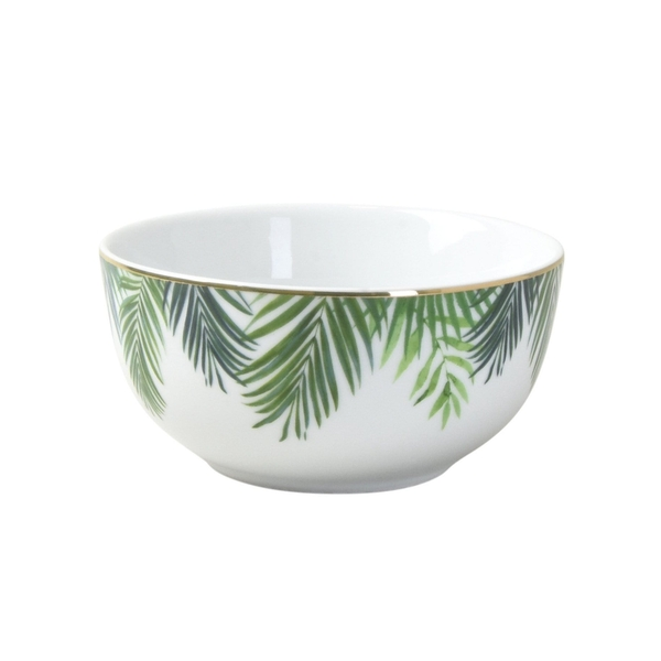 Rice Bowl in Emerald Eden Design